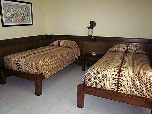 Hotelzimmer in Yogyakarta.